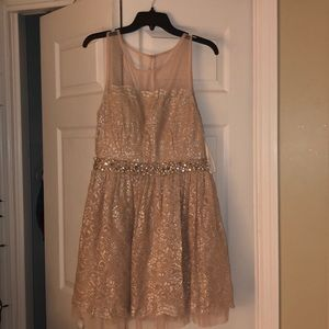 Peach Homecoming Dress